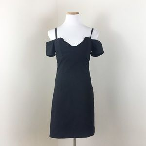 Lulu's Black Off the Shoulder Bodycon Dress